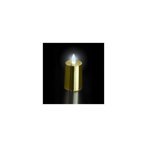 bougies a led metallisee doree led blanche. Black Bedroom Furniture Sets. Home Design Ideas