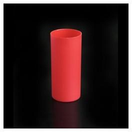 photophore en plastique couleur rouge depoli pour bougie led. Black Bedroom Furniture Sets. Home Design Ideas