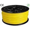 FIL imprimante 3D ABS 1.75 mm couleur JAUNE 1kg CE-ROHS