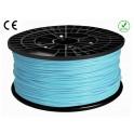 FIL imprimante 3D PLA 3 mm couleur BLEU CIEL 1kg CE-ROHS