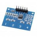 Module interrupteur sensitif capacitif 4 canaux compatible Arduino