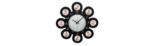Cadre photo horloge