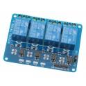 MODULE RELAIS 4 X 5VDC/10A ISOLATION PAR OPTOCOUPLEUR - Compatible ARDUINO