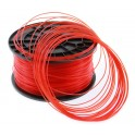 FIL imprimante 3D PLA 1.75 mm couleur ROUGE TRANSPARENT 1kg CE-ROHS