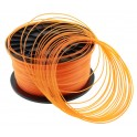 FIL imprimante 3D PLA 1.75 mm couleur ORANGE TRANSPARENT 1kg CE-ROHS
