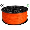FIL imprimante 3D ABS 1.75 mm couleur ORANGE 1kg CE-ROHS