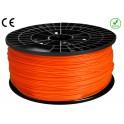 FIL imprimante 3D ABS 1.75 mm couleur ORANGE 1kg CE-ROHS