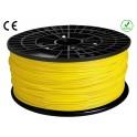 FIL FILAMENT imprimante 3D PLA 3 mm couleur JAUNE 1kg CE-ROHS