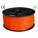 FIL FILAMENT imprimante 3D PLA 3 mm couleur ORANGE 1kg CE-ROHS