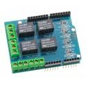 Shield Relais 4 canaux compatible Arduino - SHIE405R